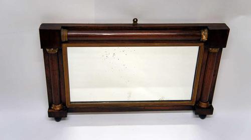 Small Regency Rosewood Overmantle Mirror 70 x 44cm (1 of 25)