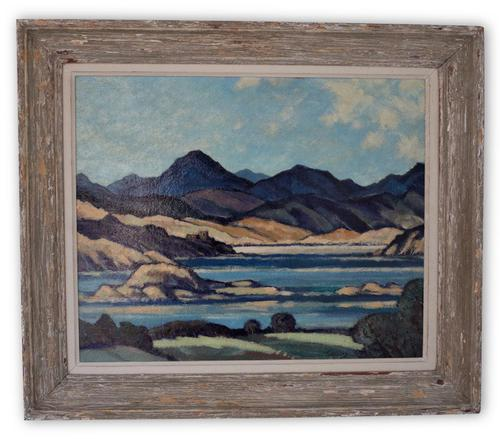 Oil Painting of Highlands (1 of 4)