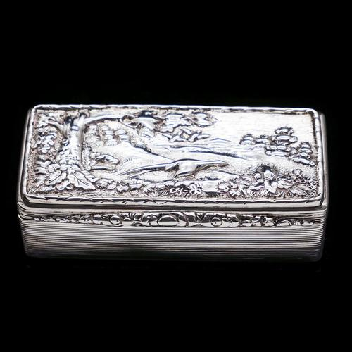Georgian Solid Silver Snuff Box with Pheasant Scene - Thomas Shaw 1834 (1 of 28)