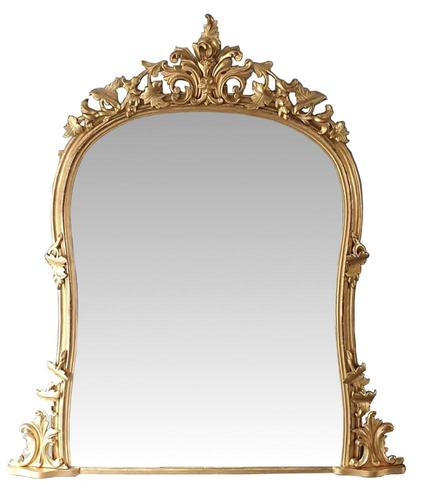 Top Quality Large 19th Century Arch Top Gilt Overmantle Mirror (1 of 3)