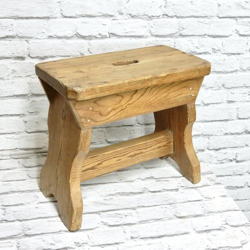 Slab Sided Country Pine Stool (1 of 5)