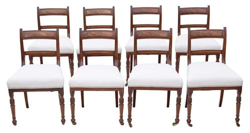 Set of 8 Mahogany Dining Chairs 19th Century c.1860 (1 of 8)