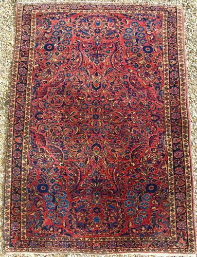 Fine Antique Saroukh Carpet / Rug (1 of 5)