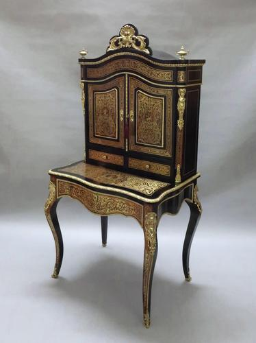French 19th Century Louis XV Style Boulle Dressing Table (1 of 13)