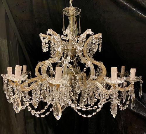 10 Light Italian Marie Theresa Antique Chandelier (1 of 14)