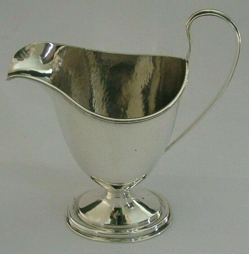 Superb Sterling Silver Hirtzel Family Stag Crest Helmet Cream Jug 1900 110g (1 of 8)