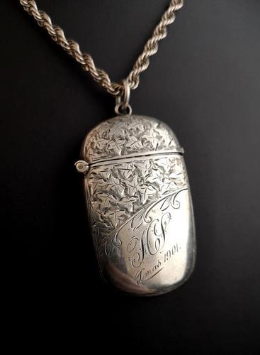 Antique Victorian silver vesta case (1 of 14)