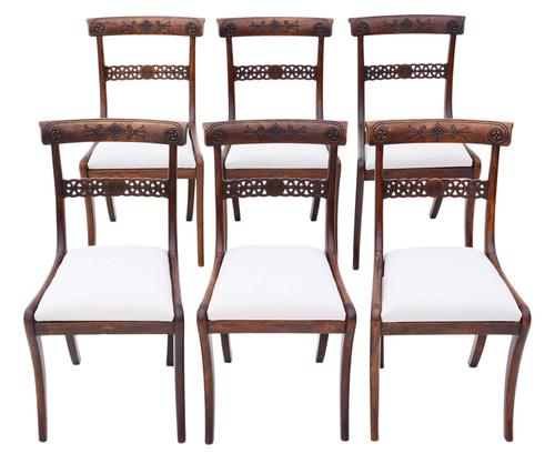 Set of 6 Regency Faux Rosewood (beech) Dining Chairs 19th Century C1825 (1 of 7)