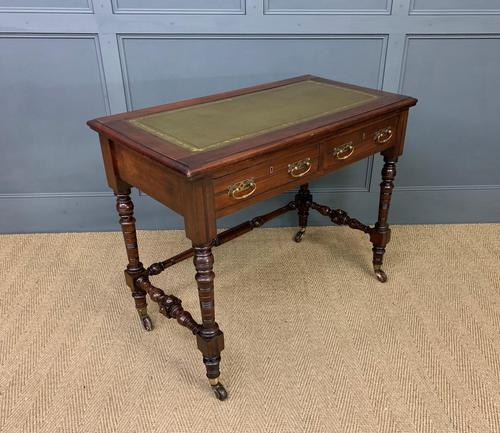 Good Late Victorian Mahogany Writing Table (1 of 14)