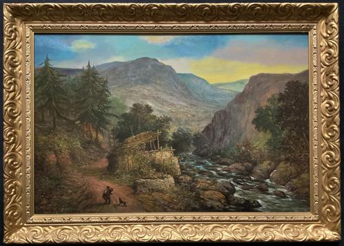 William R Stone Lovely Dolgilly North Wales Landscape Painting (1 of 13)