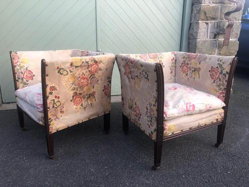 Pair of Antique English Upholstered Chairs (1 of 12)