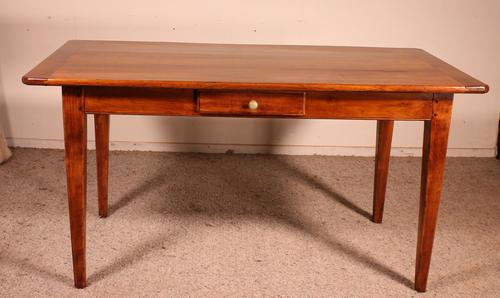 Small 19th Century French Table in Cherrywood (1 of 9)