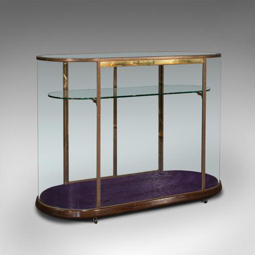 Large Antique Glazed Display Cabinet, English, Bronze, Shop, Showcase, Edwardian (1 of 12)