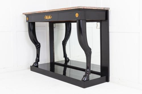 19th Century French Ebonised Console Table with Marble Top (1 of 6)