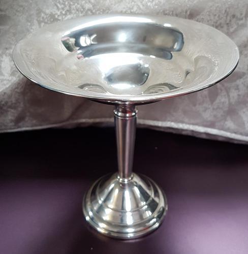 Silver Bon Bon Dish on Pedestal (1 of 3)