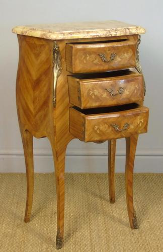 Good Pair Of French Inlaid Bedside Cabinets With Ormolu Mounts (1 of 7)