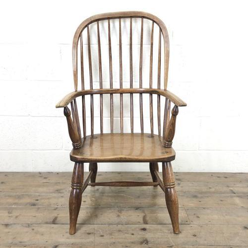 Antique Stick & Hoop Back Armchair (1 of 10)