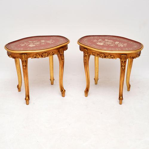 Pair of Antique French Style Giltwood Side Tables (1 of 10)
