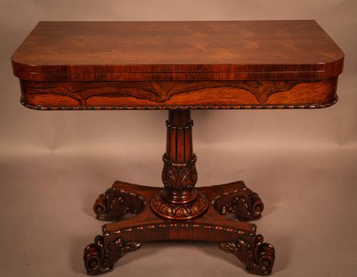 Very Good Rosewood Card Table William IV (1 of 9)