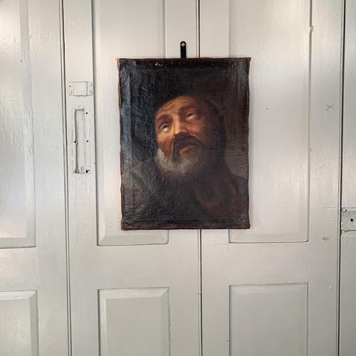 Antique Georgian oil painting portrait of elderly bearded gentleman (1 of 9)
