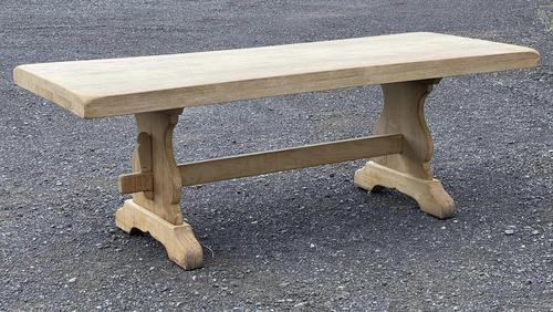 Bleached Oak Trestle End French Farmhouse Dining Table (1 of 22)