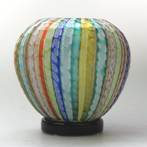 Museum Quality Very Fine Gino Cenedese Murano Vetri Textured Vase - Mid 20th Century (1 of 11)