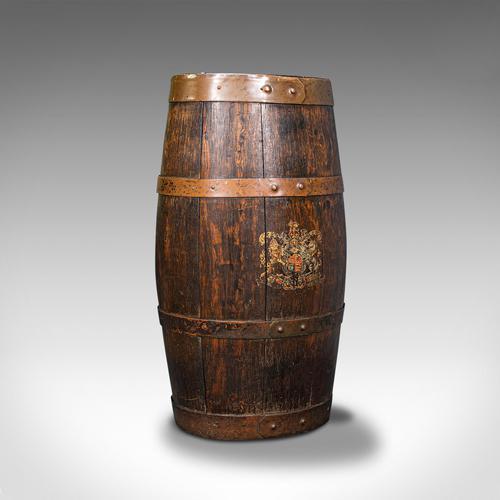 Antique Coopered Barrel Stick Stand, English, Oak, Hallway Portico, Victorian (1 of 12)