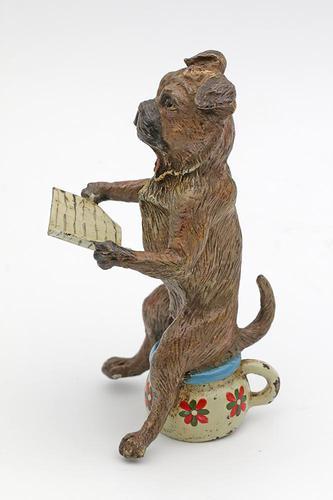 Bergmann Bronze Dog c.1900 (1 of 4)
