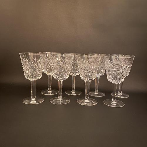 Eight Waterford 'Alana' Claret Glasses (1 of 3)