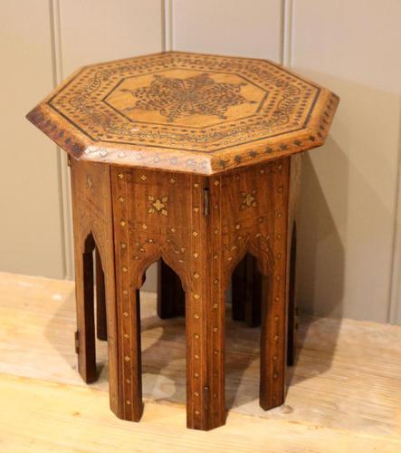 Small Anglo Indian Hexagonal Teakwood Table (1 of 7)
