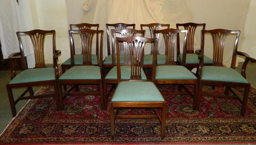 Set of 10 Mahogany Dining Chairs (1 of 8)