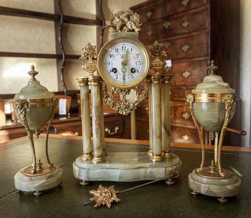 French Onyx Clock Set (1 of 3)