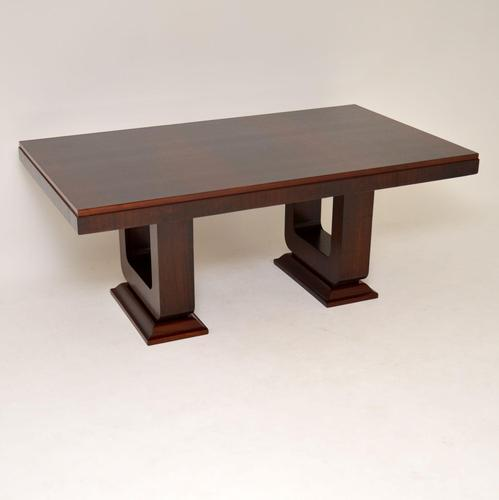 1920's French Art Deco Rosewood Dining Table (1 of 11)