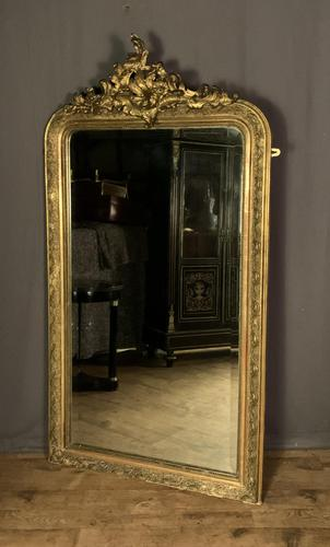 Large French Napoleon III Gilt Wall Mirror (1 of 7)