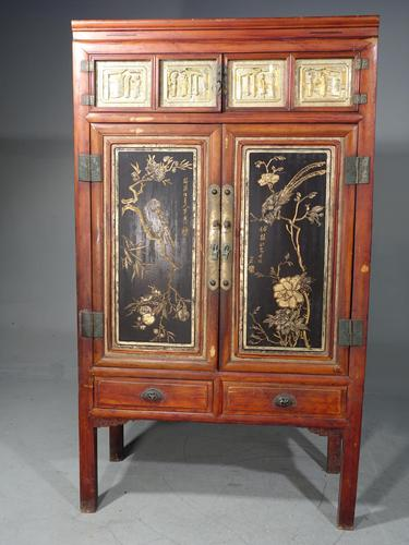 Fine & Original Late 19th Century Lacquered Wedding or Marriage Cabinet (1 of 5)