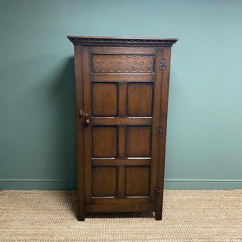 Quality Oak Antique Hall Wardrobe by Wylie & Lochhead (1 of 7)