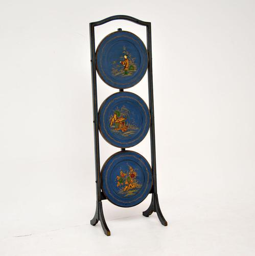 Antique Edwardian Lacquered Chinoiserie Cake Stand (1 of 12)