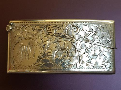 Antique Sterling Silver Card Case (1 of 3)