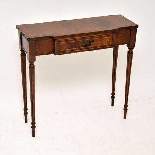 Antique Georgian Style Mahogany Console Table (1 of 7)