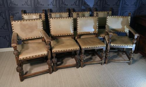 Set of Eight Oak Dining Chairs (1 of 14)