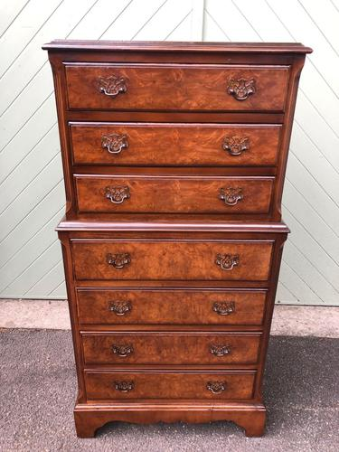 Antique Burr Walnut Chest on Chest (1 of 10)