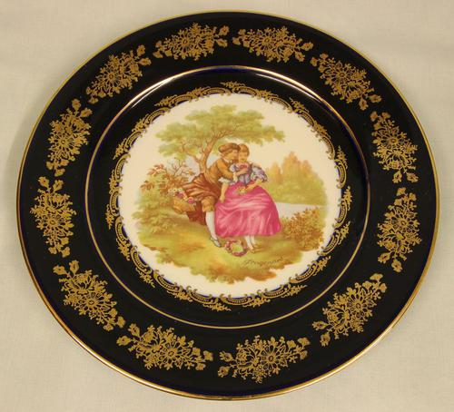 Antique Style Limoges Cabinet Plate (1 of 3)