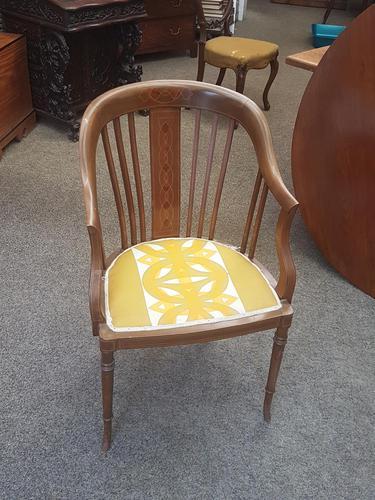 Edwardian Inlaid Tub Chair (1 of 7)