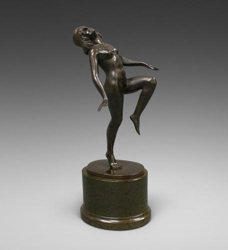 Art Deco Bronze Figure of a Dancing Nude (1 of 6)