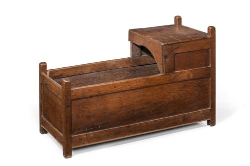 Mid-18th Century Oak Crib (1 of 4)