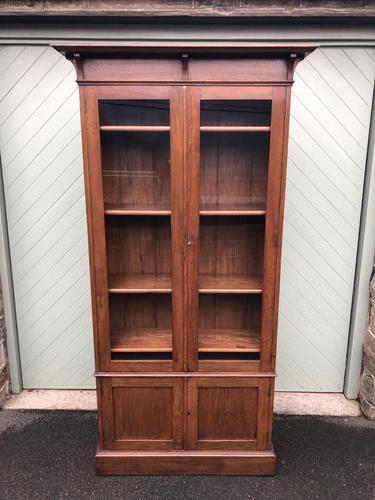 Arts & Crafts Glazed Oak Bookcase (1 of 11)
