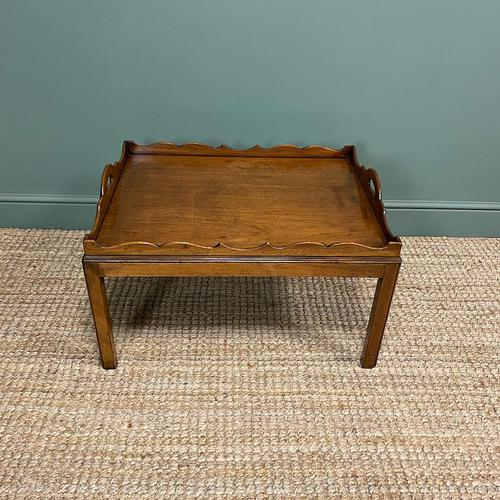 Edwardian Tray Top Antique Coffee Table (1 of 5)