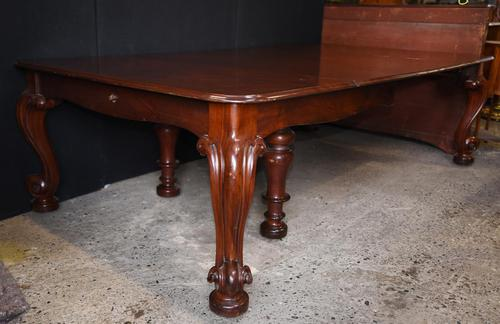 Antique Victorian Dining Table Extending Mahogany Cabriole legs 1840 (1 of 13)