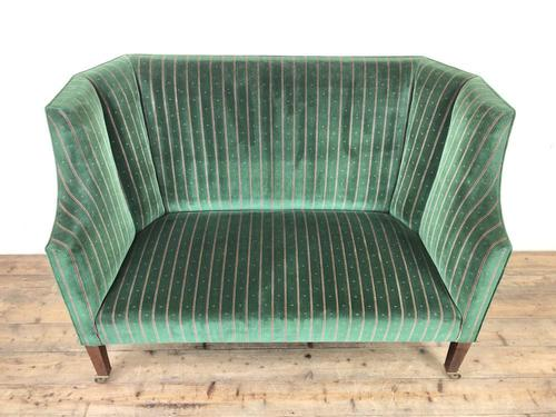 Edwardian Upholstered Wing Back Couch (1 of 9)