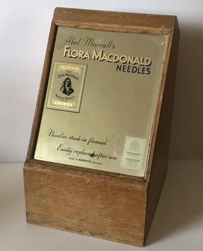 Counter Top Haberdashery Cabinet Abel Morrall's Flora Macdonald Needles c.1930 (1 of 9)